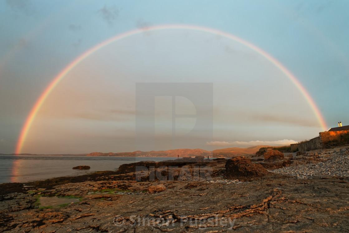 """Full Rainbow at Penmon"" stock image"