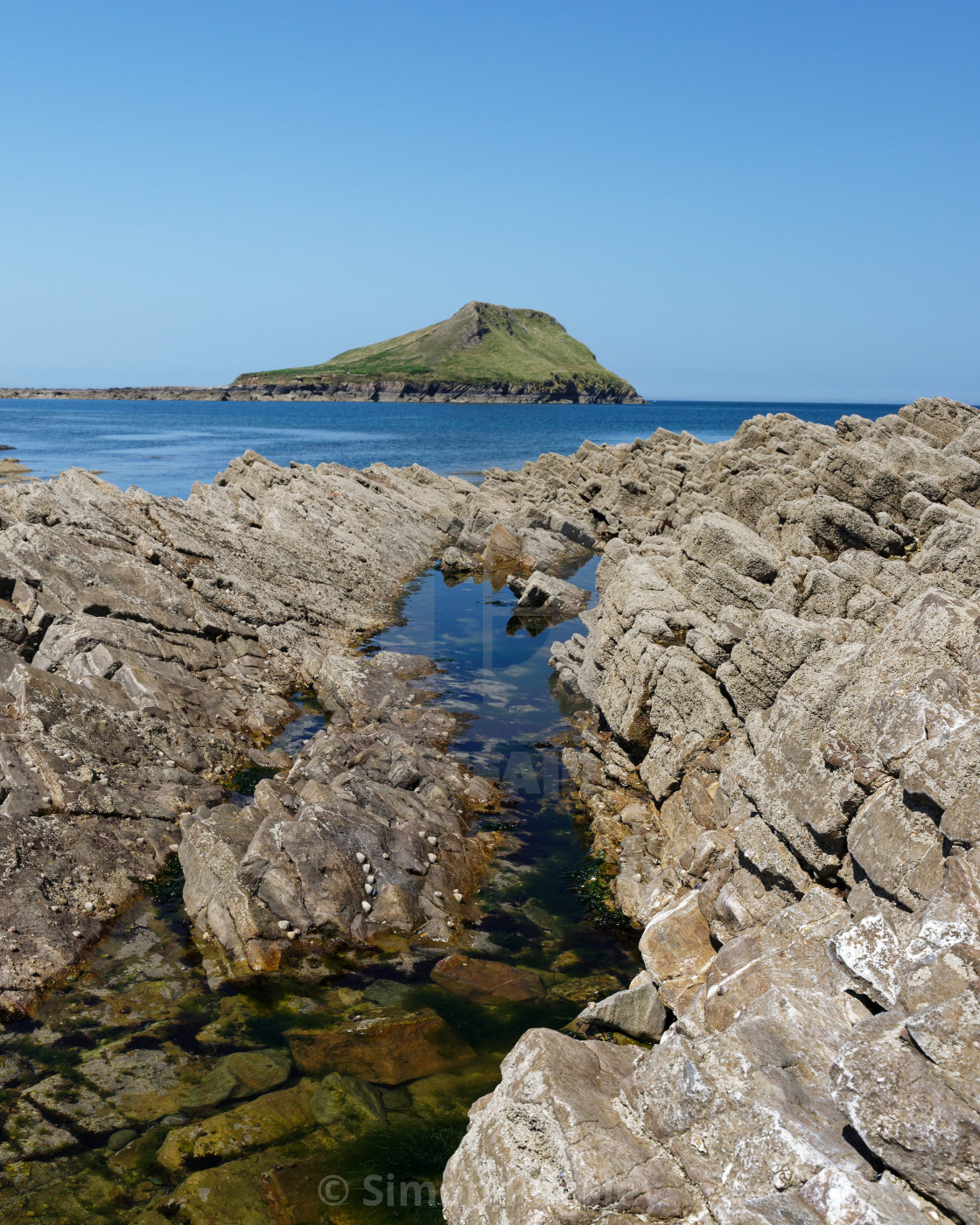 """""""Worms Head at Rhossili"""" stock image"""