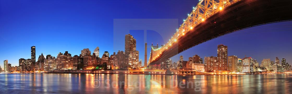 """""""Queensboro Bridge and Manhattan"""" stock image"""