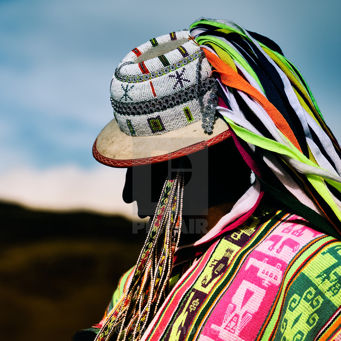 """""""Andean Man"""" stock image"""
