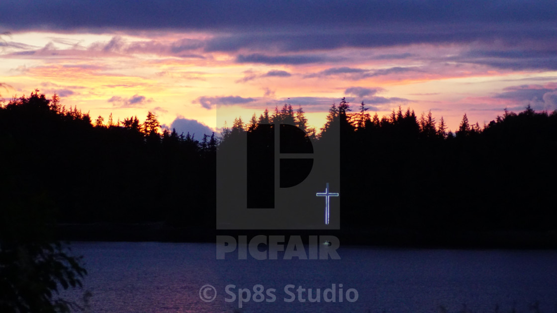 """""""Ward Cove by the cross"""" stock image"""
