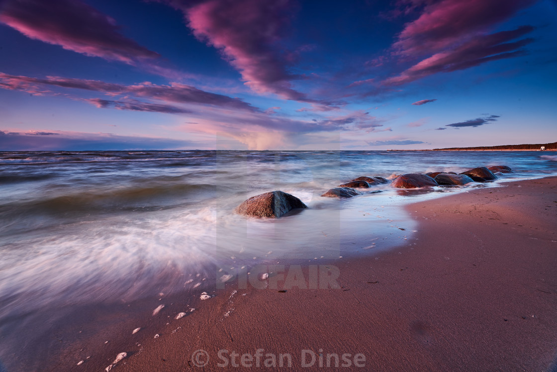 """""""rocky baltic seascape in the evening"""" stock image"""