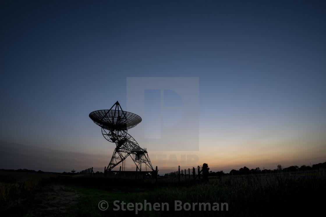"""""""Mullard Radio Telescope"""" stock image"""