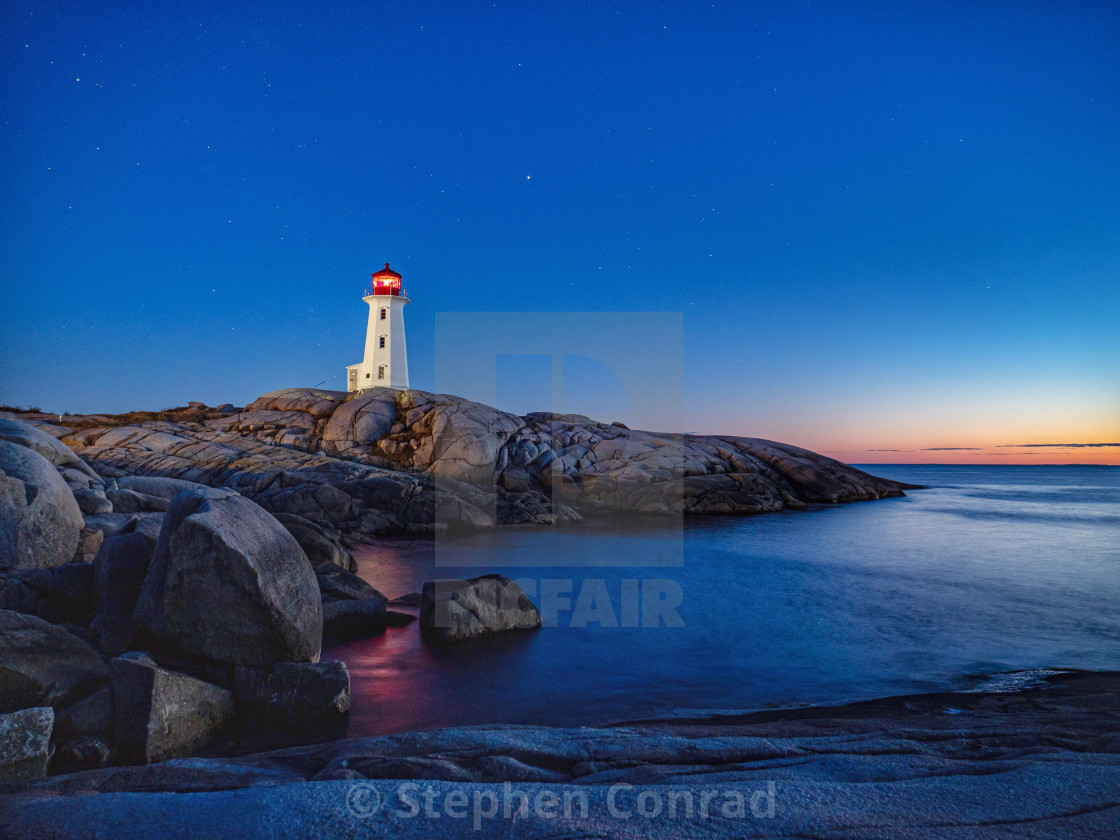 """""""Peggy's Cove sunset"""" stock image"""
