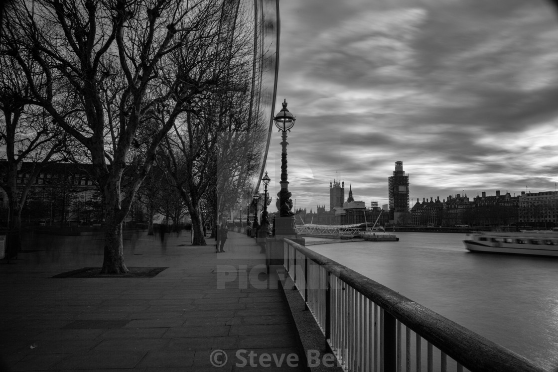 """""""Thames by the Southbank at Dusk"""" stock image"""