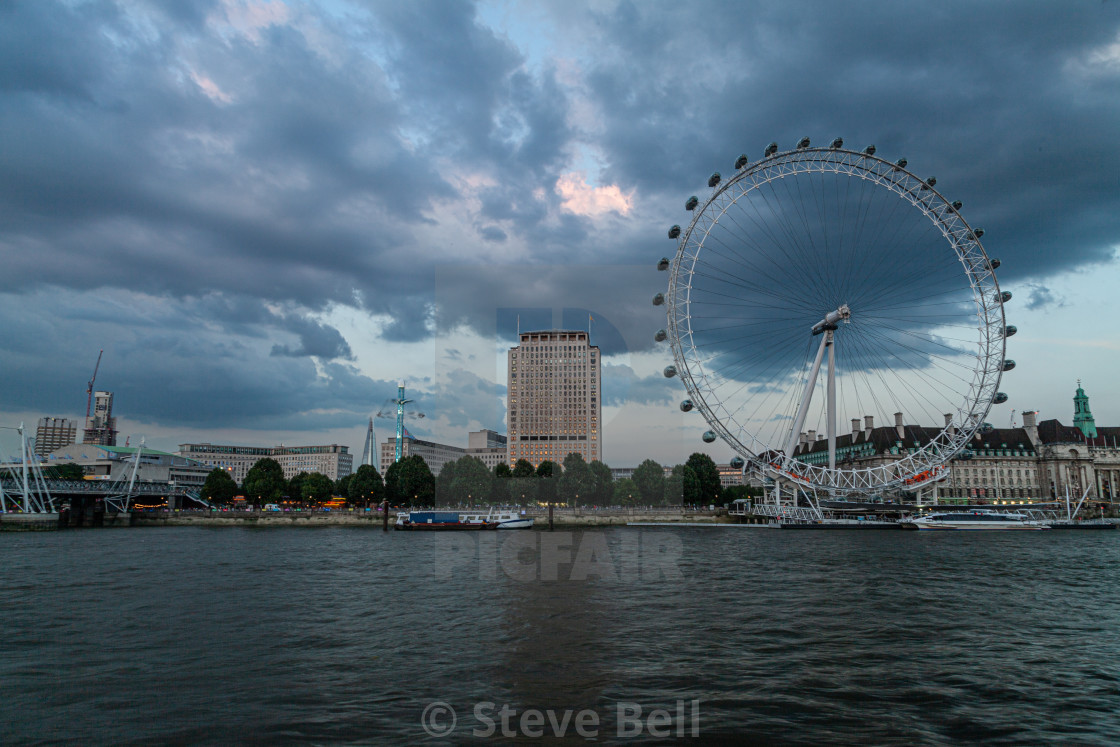 """""""The London Eye by the Southbank"""" stock image"""