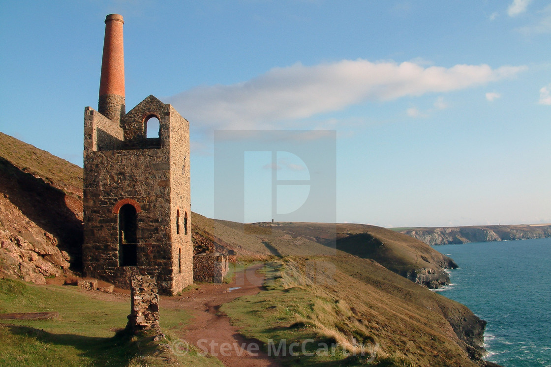 """Great Wheal Charlotte"" stock image"
