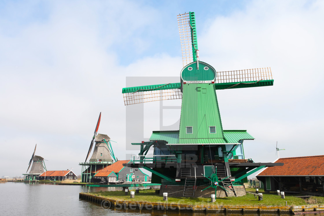 """Dutch windmill"" stock image"