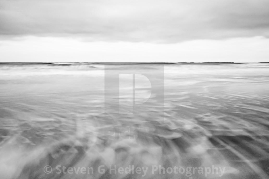 """Bamburgh Castle Beach, Northumberland."" stock image"