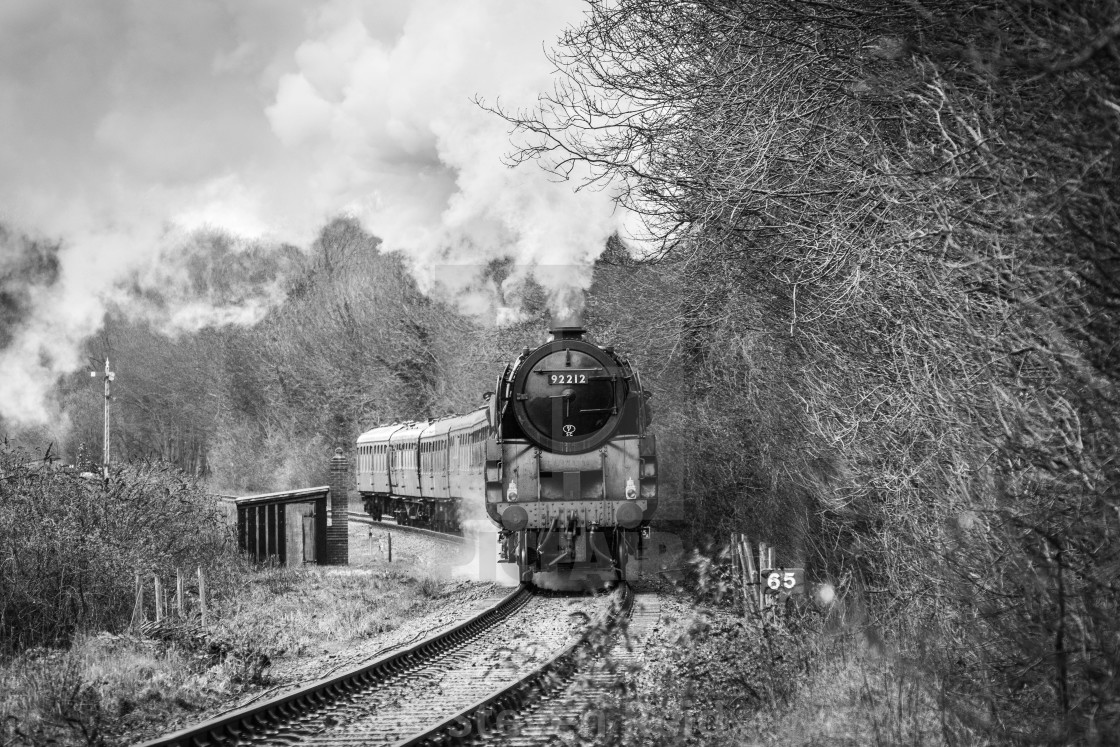 """British Railways 9F"" stock image"