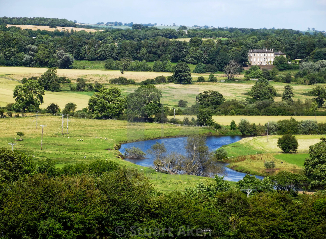 """A Bend in the River Ure"" stock image"