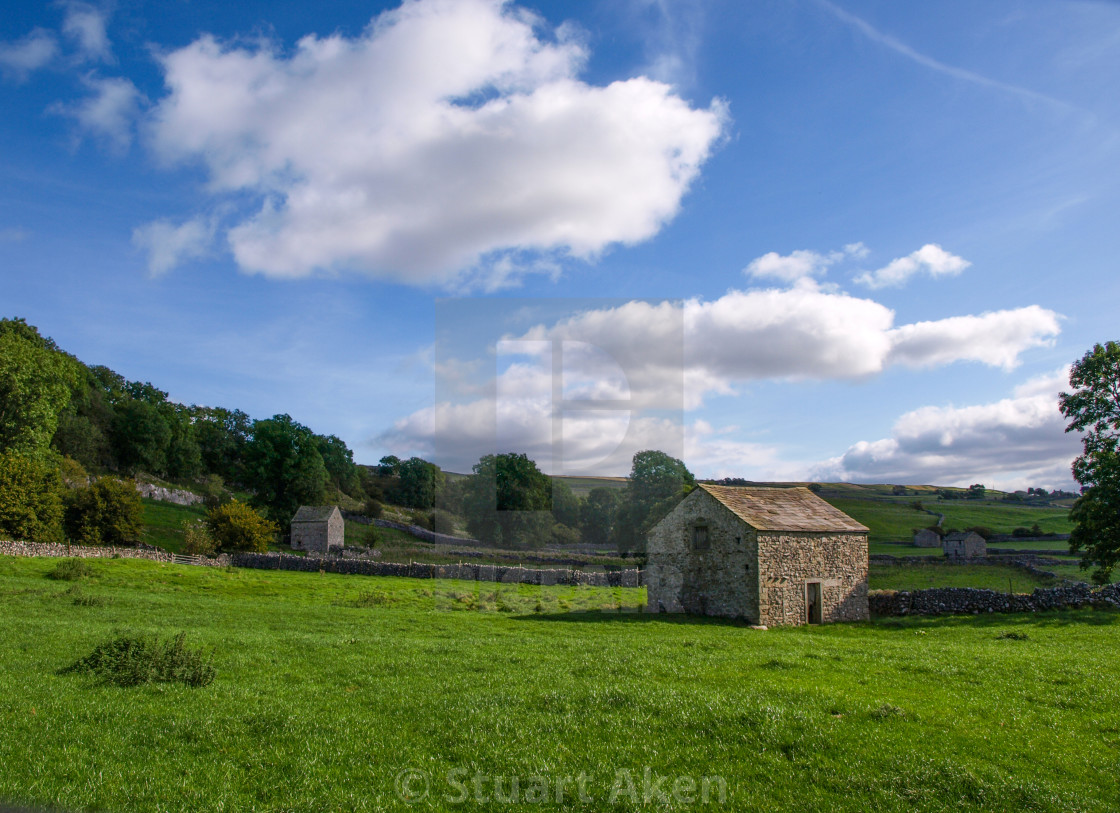 """Barns in Yorkshire Dales"" stock image"