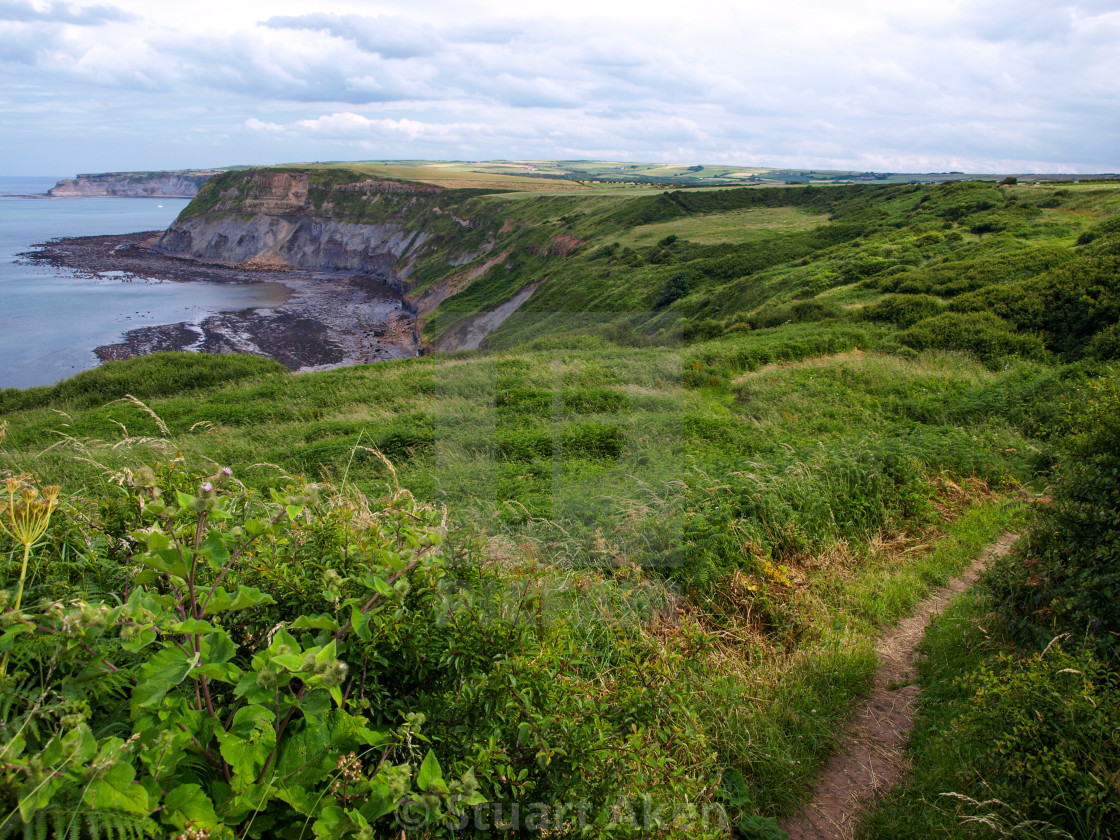 """Clifftop Path North Yorkshire"" stock image"