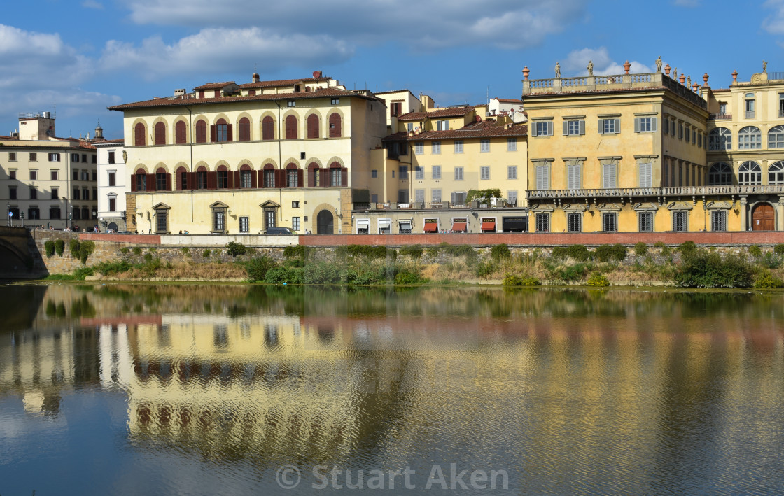 """""""Italian Style on the Arno in Florence"""" stock image"""