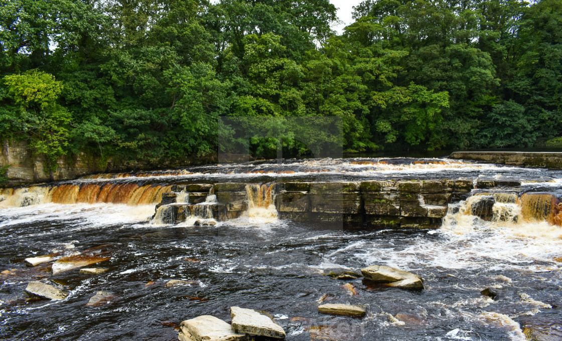 """River Swale at Richmond"" stock image"