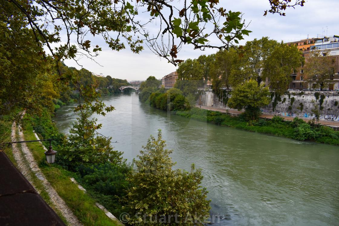 """""""River Tiber in Roma"""" stock image"""