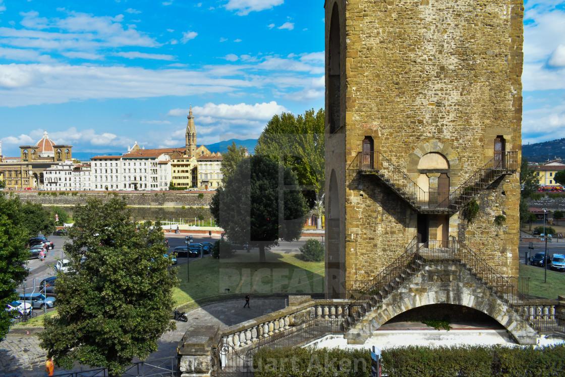 """Florence Torre Di San Niccolo"" stock image"