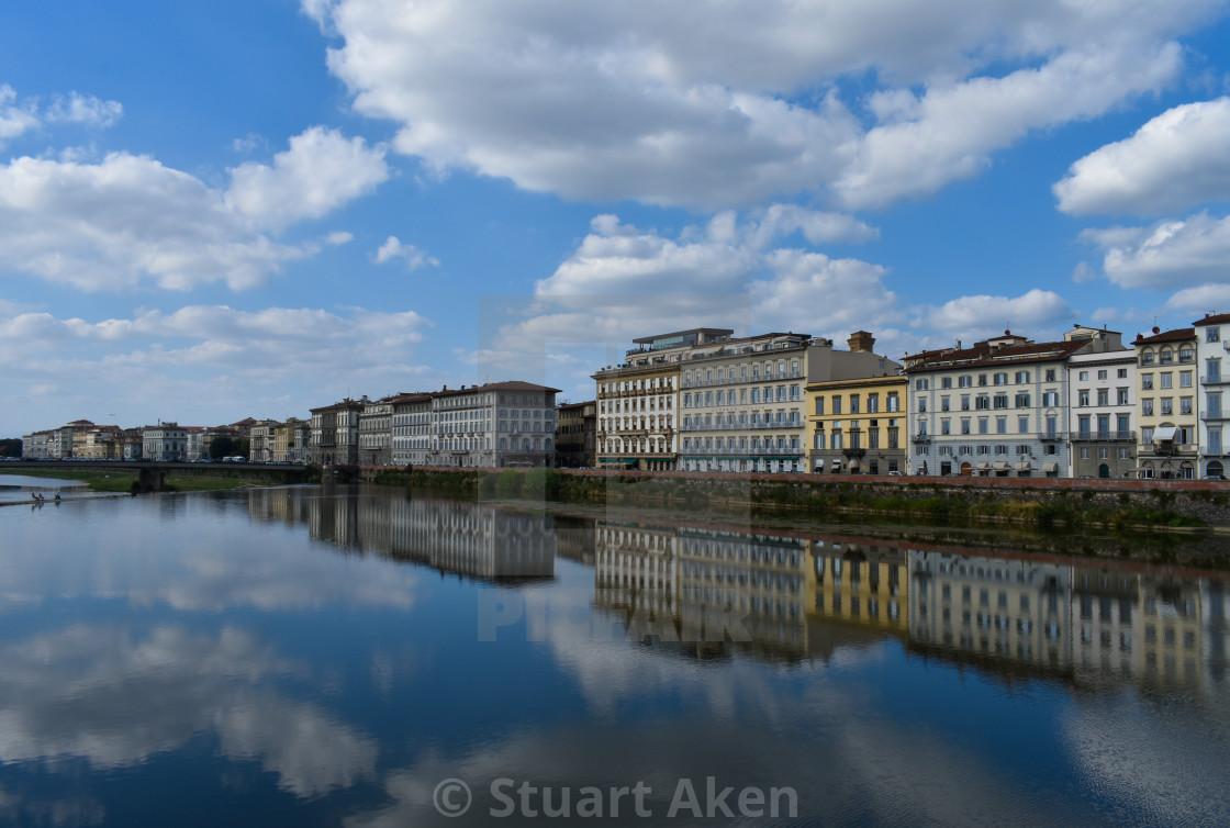 """So Still that Florentine Flow"" stock image"