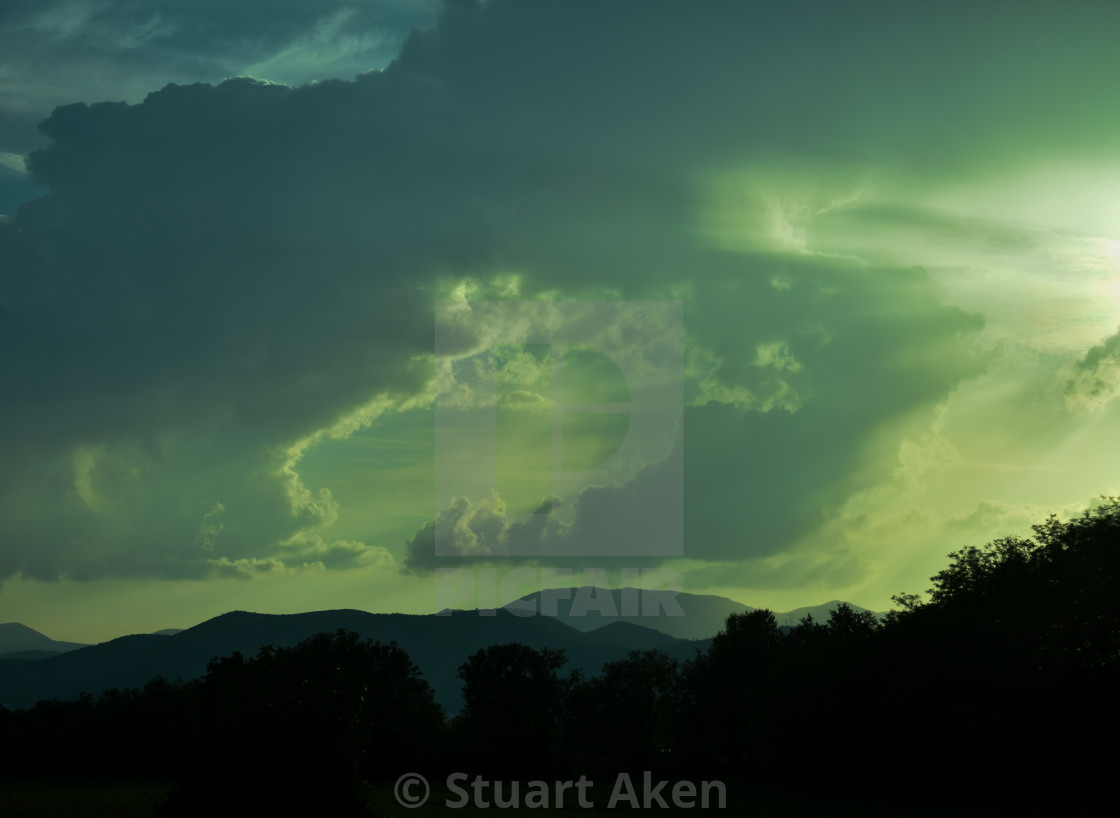 """""""Storm Building on Road to Rome"""" stock image"""