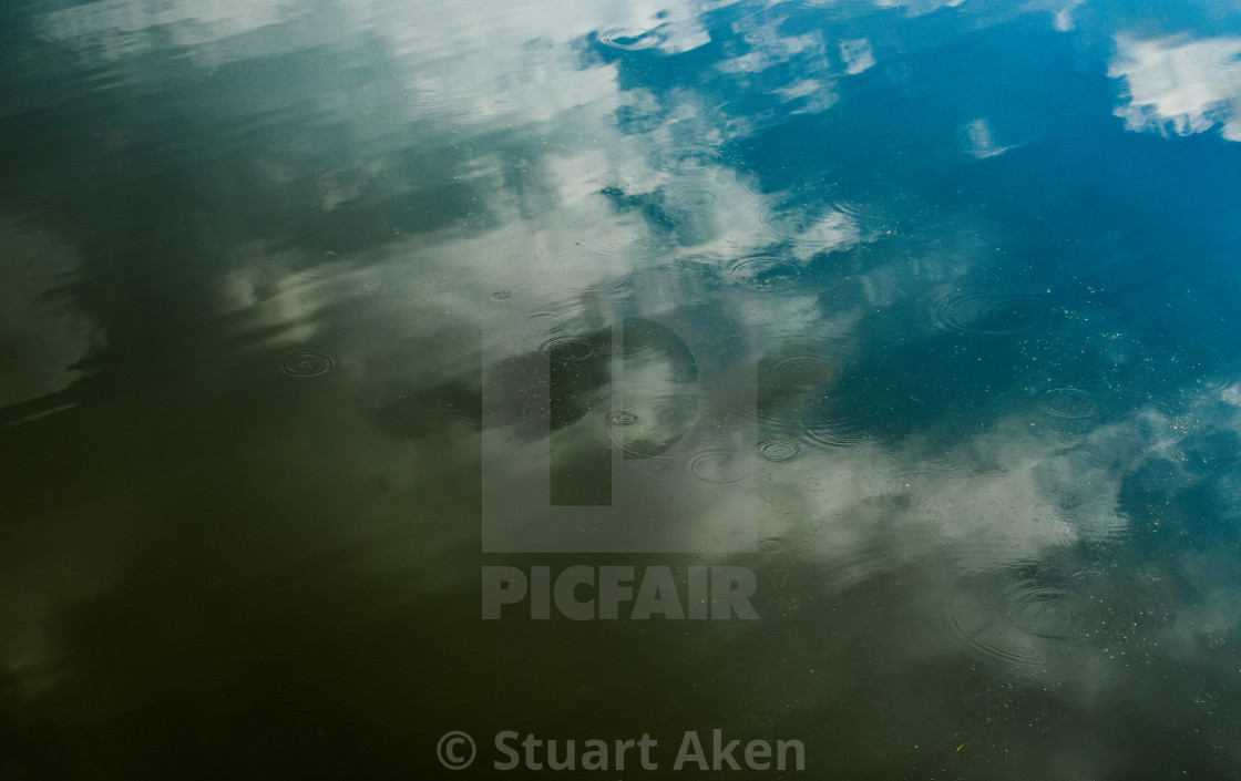 """Reflecting on Water #1"" stock image"