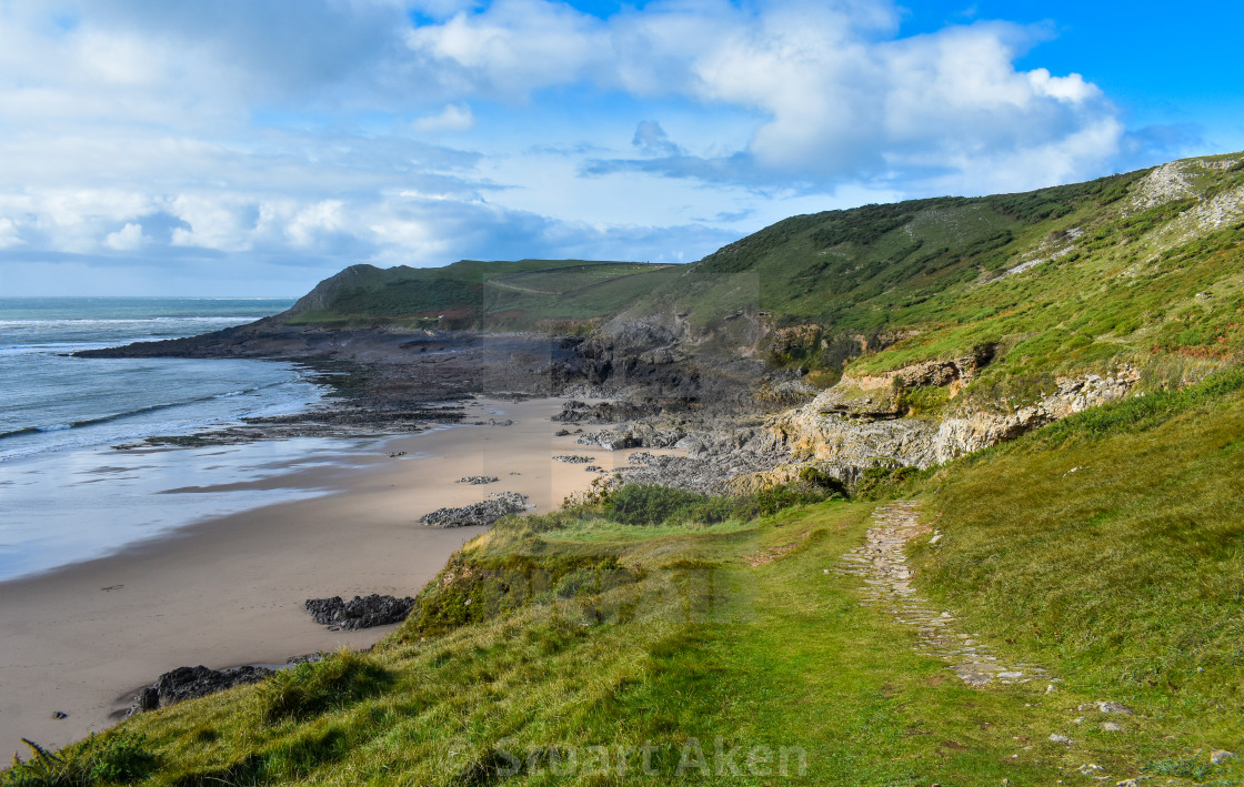 """Gower Coast #12"" stock image"