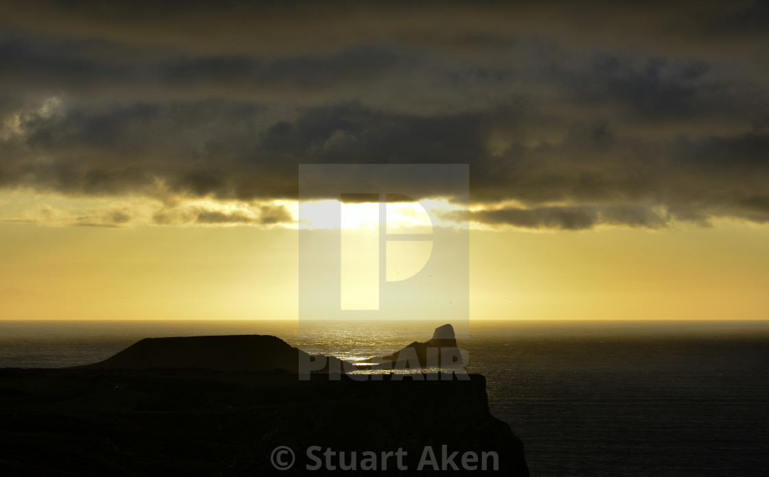 """Sunset over Worm's Head #3"" stock image"