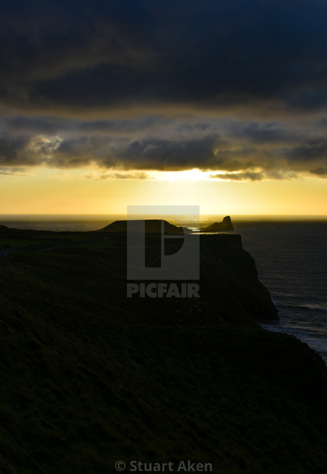 """Sunset over Worm's Head #4"" stock image"