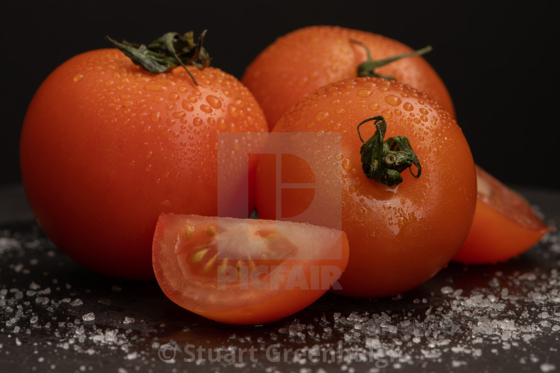 """Tomatoes and Sea Salt"" stock image"