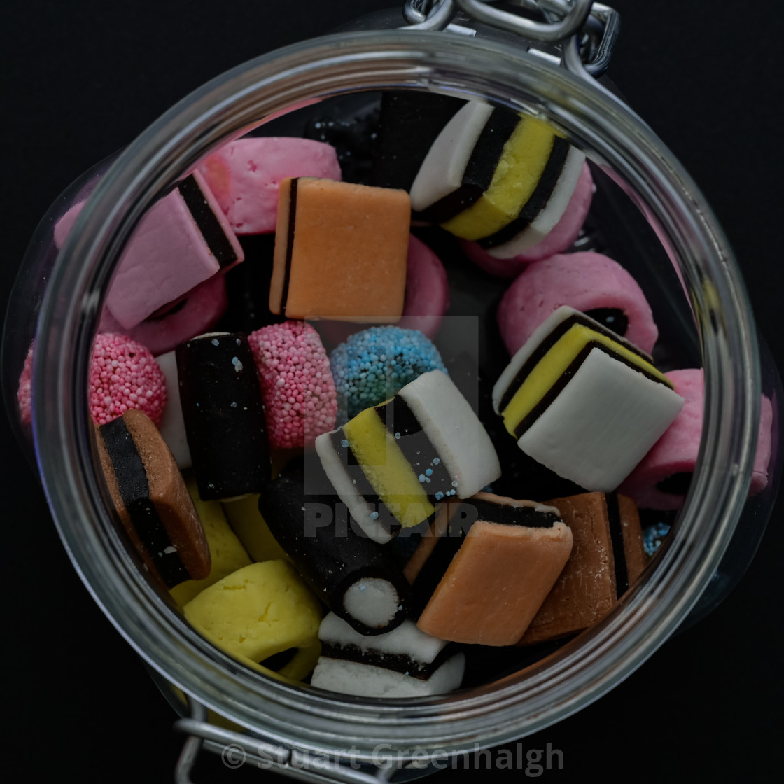 """Liquorice Allsorts and Jar"" stock image"