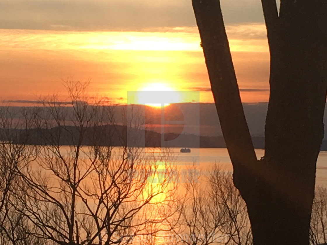 """Puget Sound Sunset"" stock image"