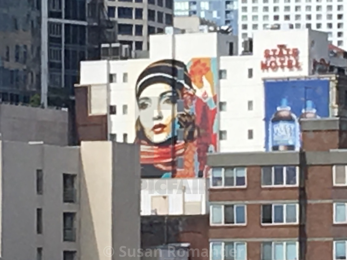 """""""Mural of a lady"""" stock image"""