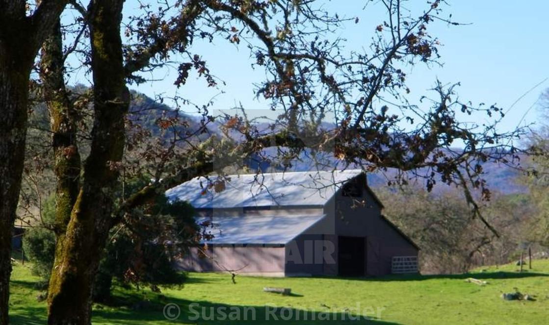 """Barn south of Hopland Ca."" stock image"