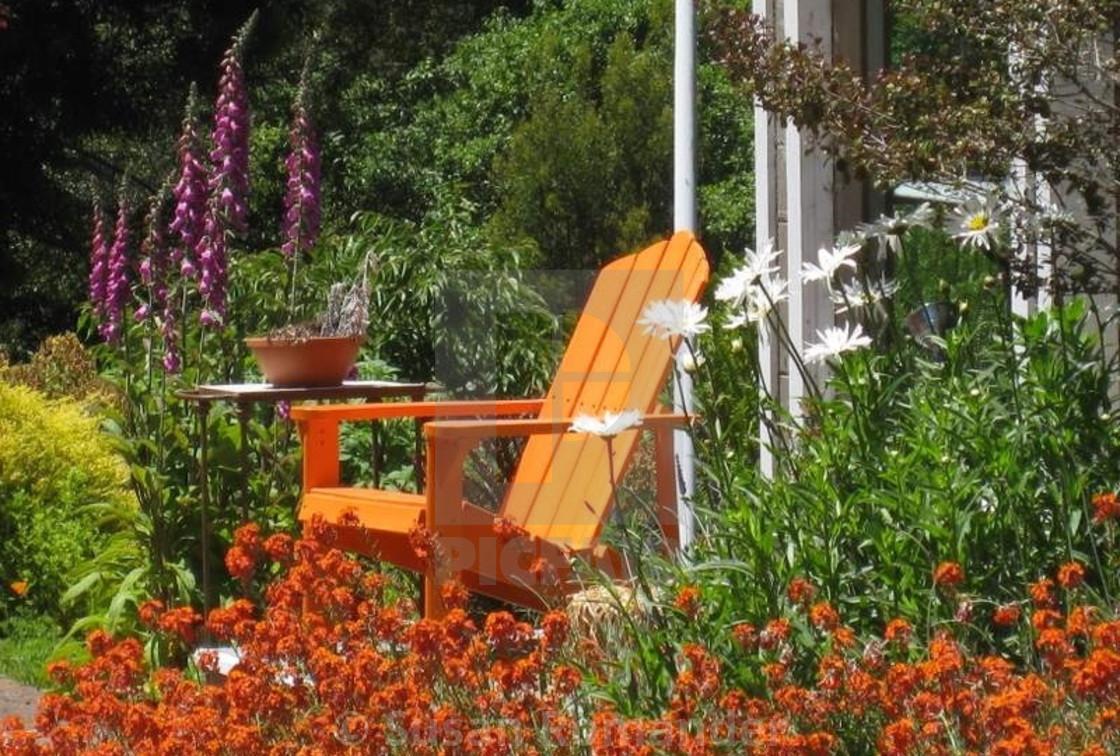 """""""Orange Chair"""" stock image"""