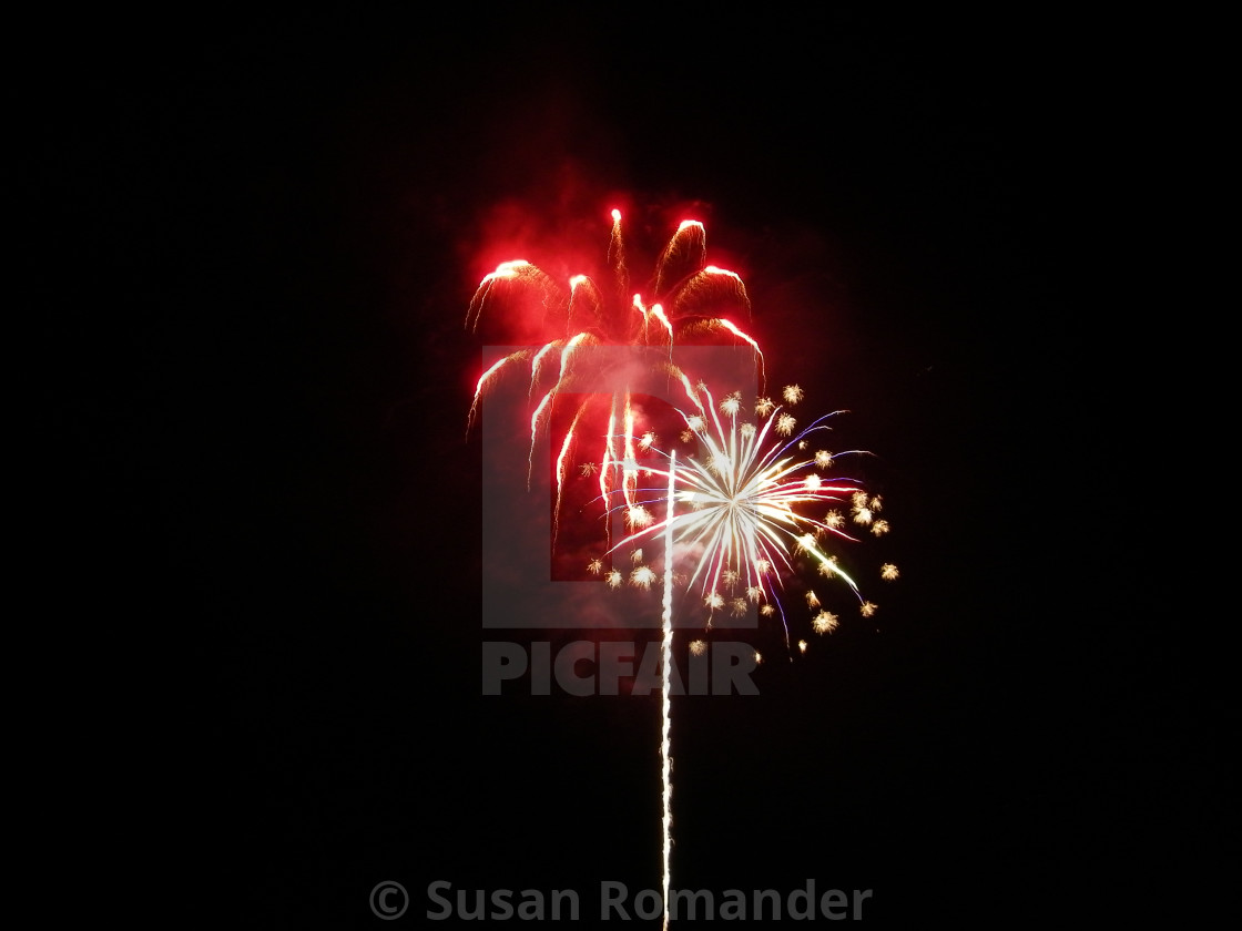 """""""Fire works on the 4th of July, Tahoe"""" stock image"""