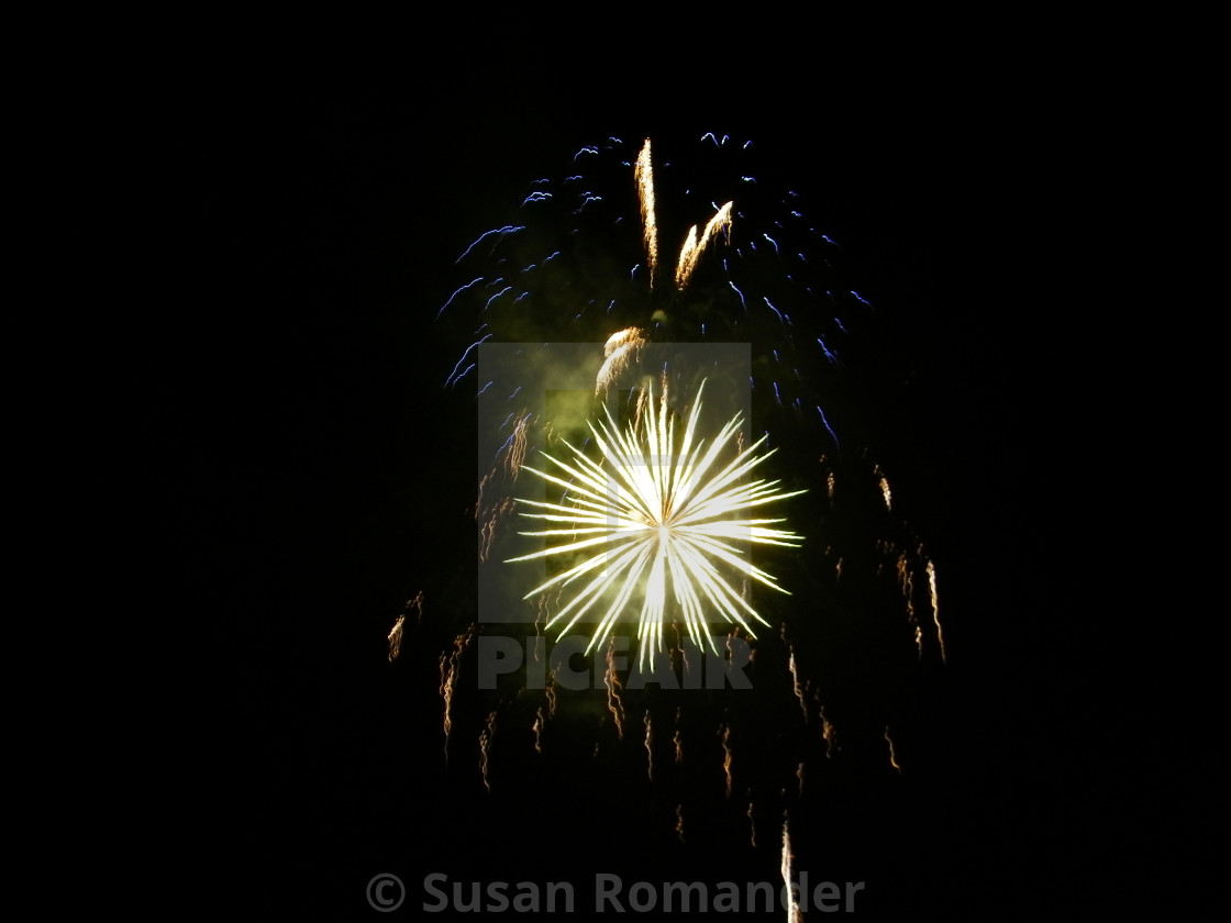 """Fireworks in Tahoe"" stock image"