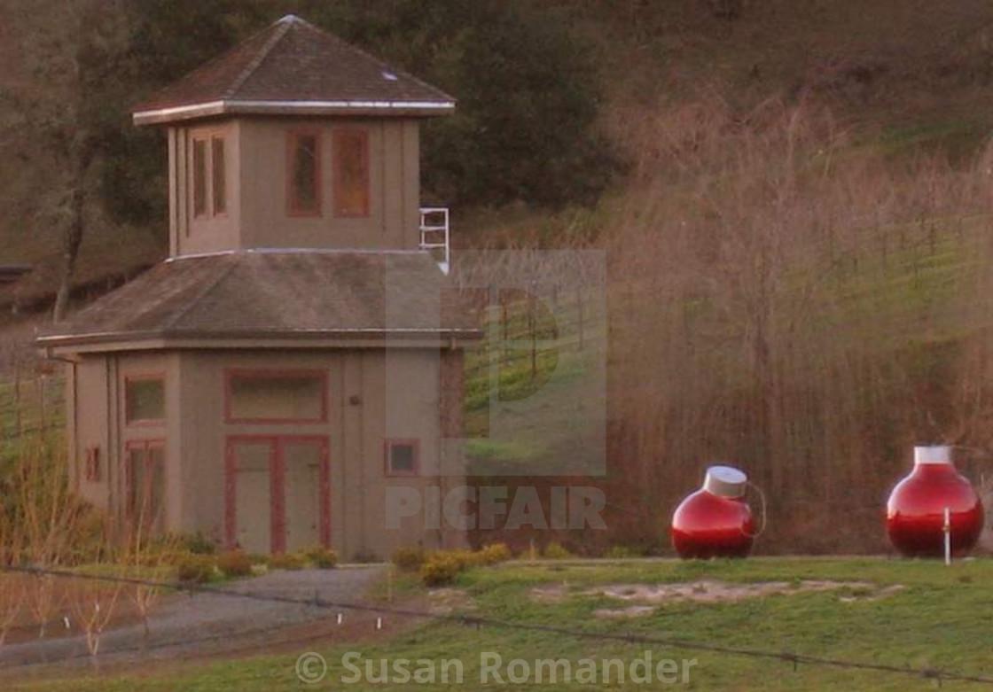 """Winery North of Hopland at Christmas"" stock image"