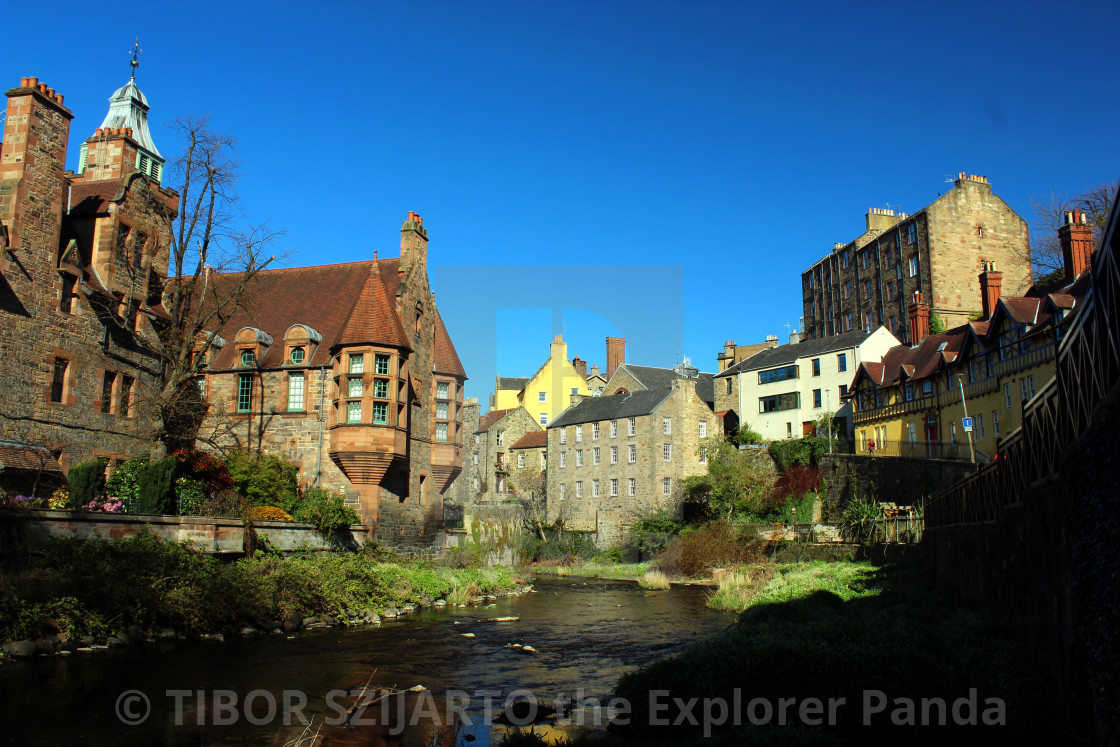 """""""DEAN VILLAGE, DOWN BY THE LEATH SHORE"""" stock image"""