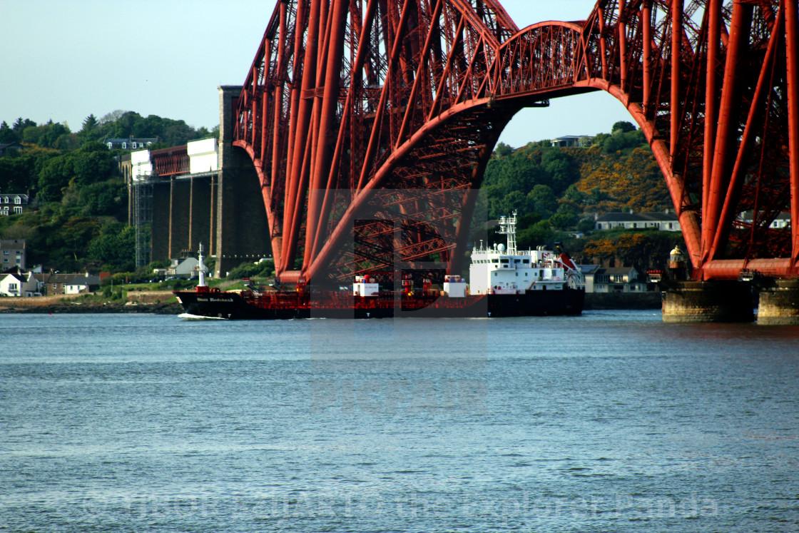 """The bridges of the Firth of Forth, Edinburgh, Scotland #29"" stock image"