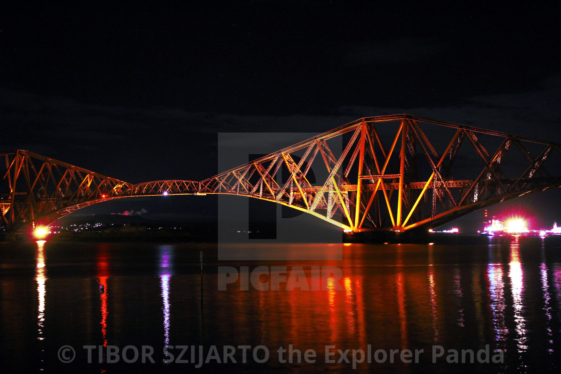 """""""Queensferry by night #7"""" stock image"""