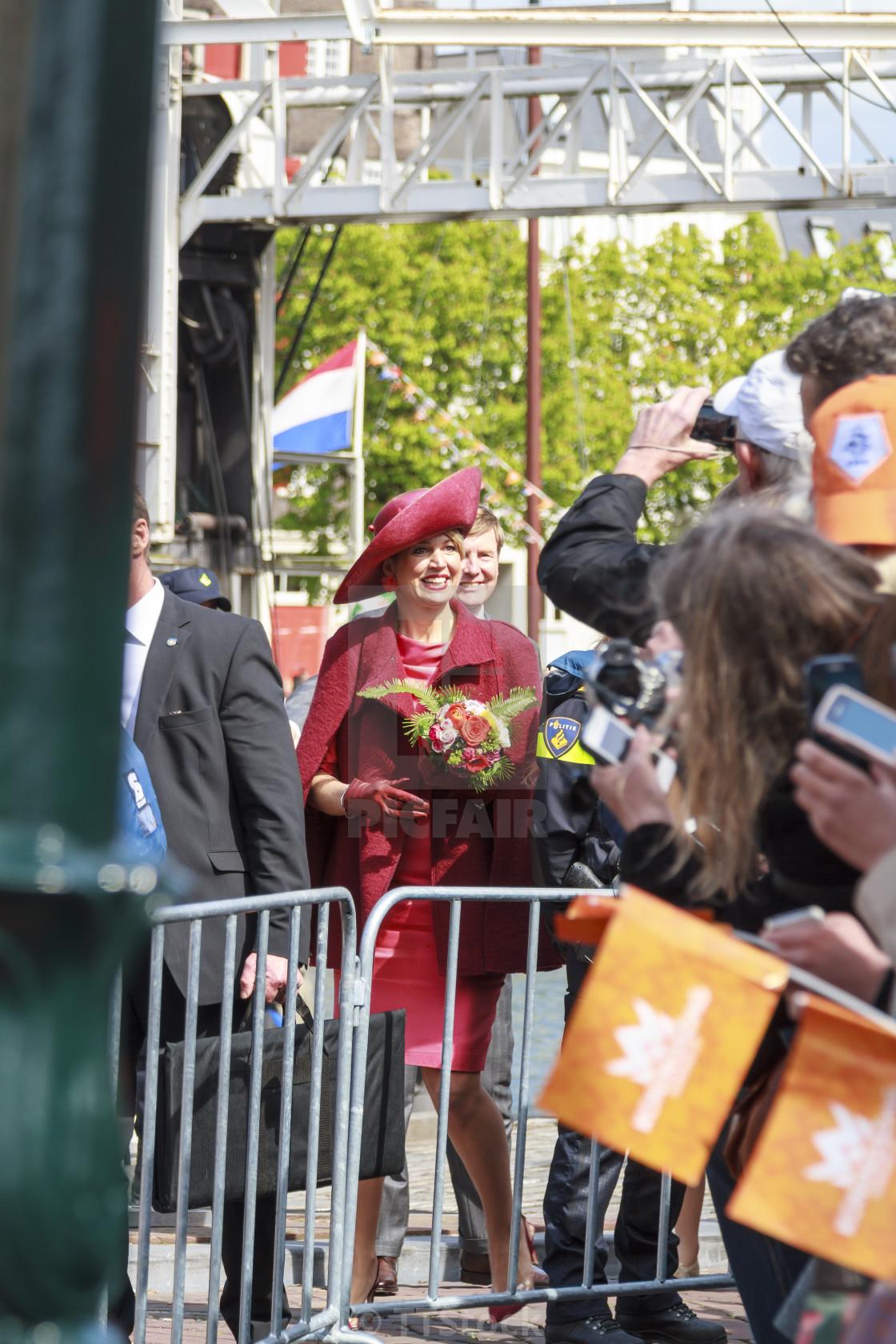 Queen Maxima arriving