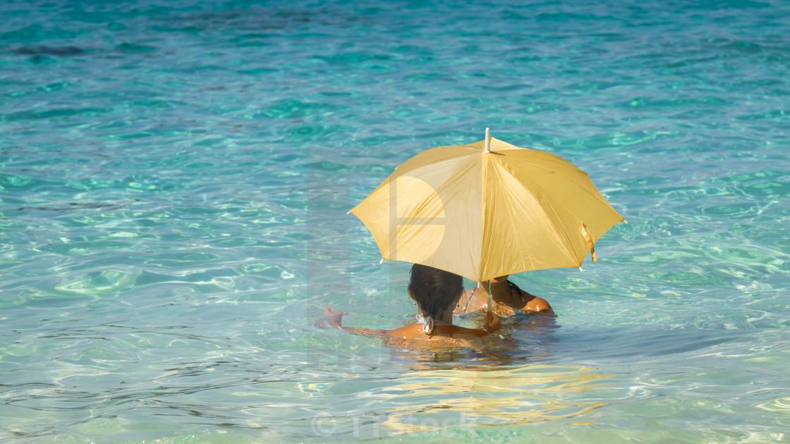 Women under an umbrella 1