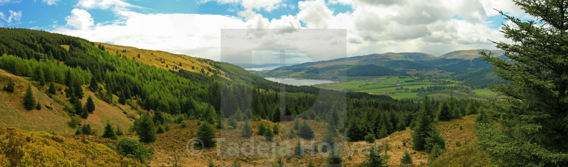 """View over Cowal peninsula"" stock image"
