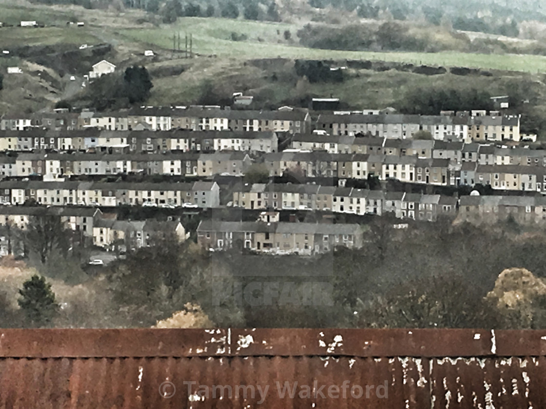 """""""A South Wales Valley"""" stock image"""