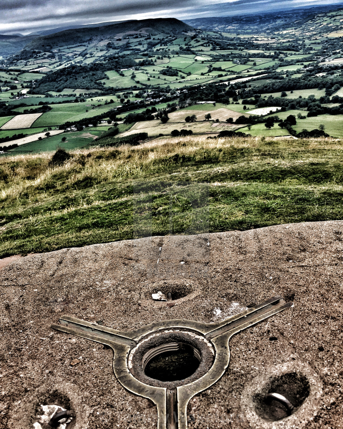 """""""View from Skirrid Fawr"""" stock image"""