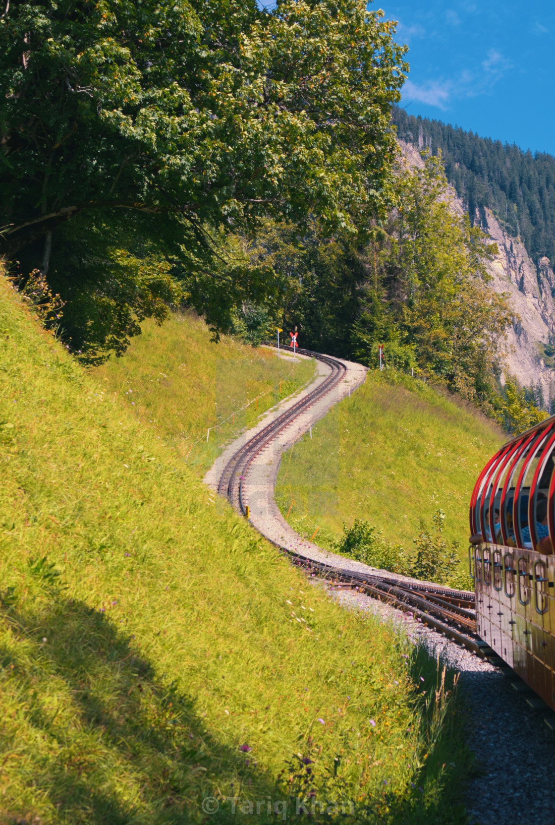 """Winding Mountain Railway"" stock image"