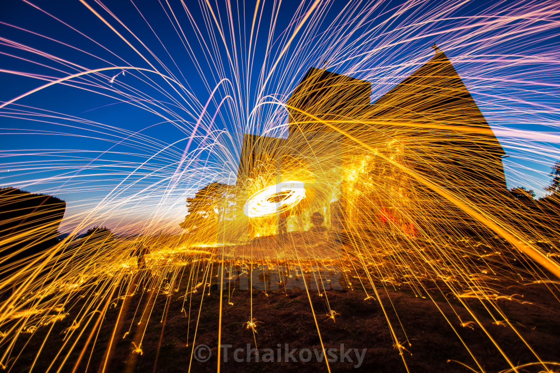 """Light painting Surrey England"" stock image"