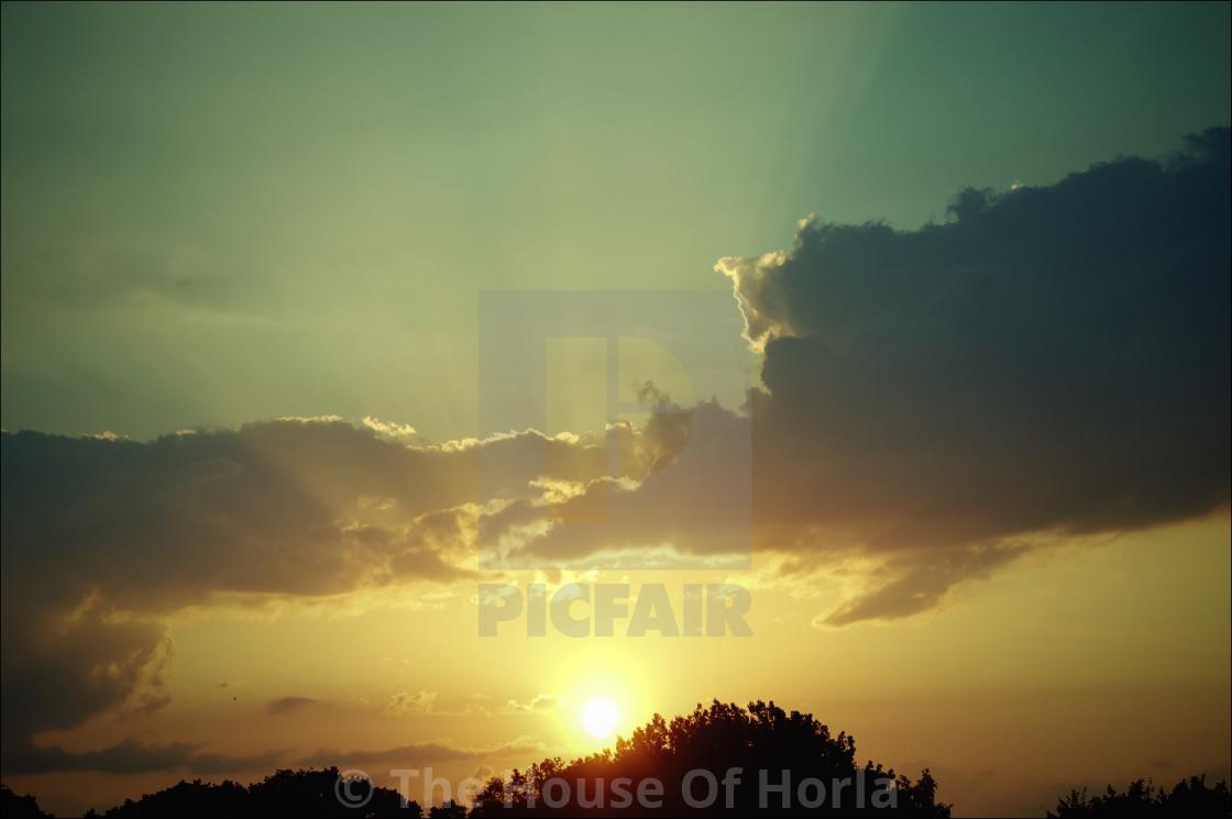 """Sunset in Gdansk"" stock image"