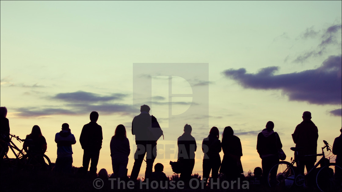"""Sunset Audience"" stock image"