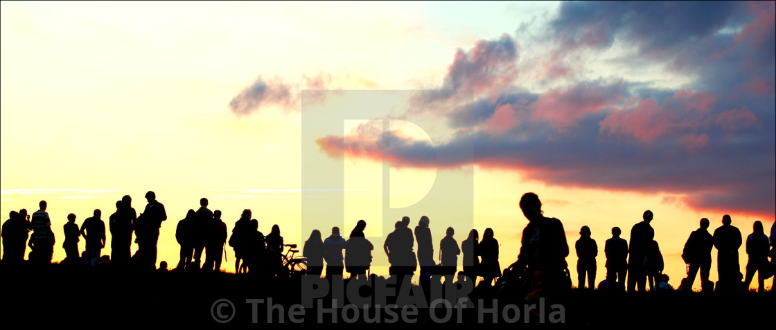 """Sunset Audience II"" stock image"
