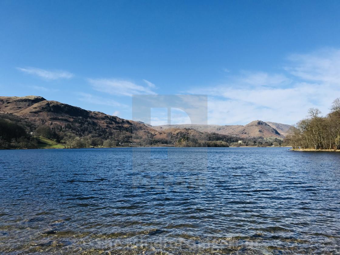 """Lake Grasmere"" stock image"